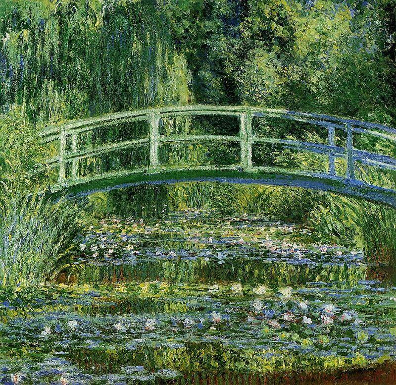 Water Lillies and the Japanese bridge, 1897-1899
